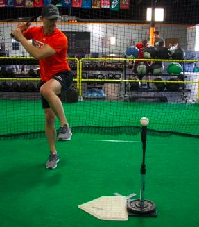 Leg kick baseball