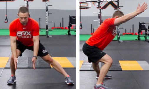 lateral Lunge with overhead reach